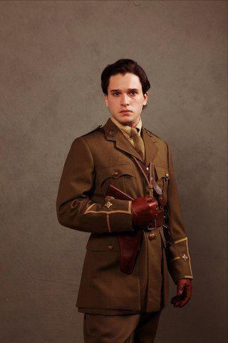Kit Harington is so hot in a uniform, Just if he has some beard and sideburns won't be bad either..