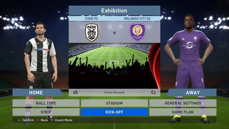 Paok FC vs Orlando City SC, Toumba Stadium, PES 2016, PRO EVOLUTION SOCCER 2016, Konami, PC GAMEPLAY, PCGAMEPLAY