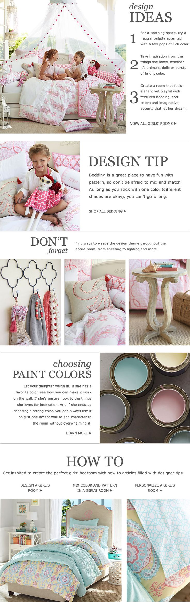 Girls Bedroom Ideas  amp  Girls Room Ideas   Pottery Barn Kids
