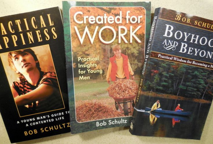 Bob Schultz, Boys Discipleship: Practical happiness, Created To Work, Boyhood and Beyond, character-building books