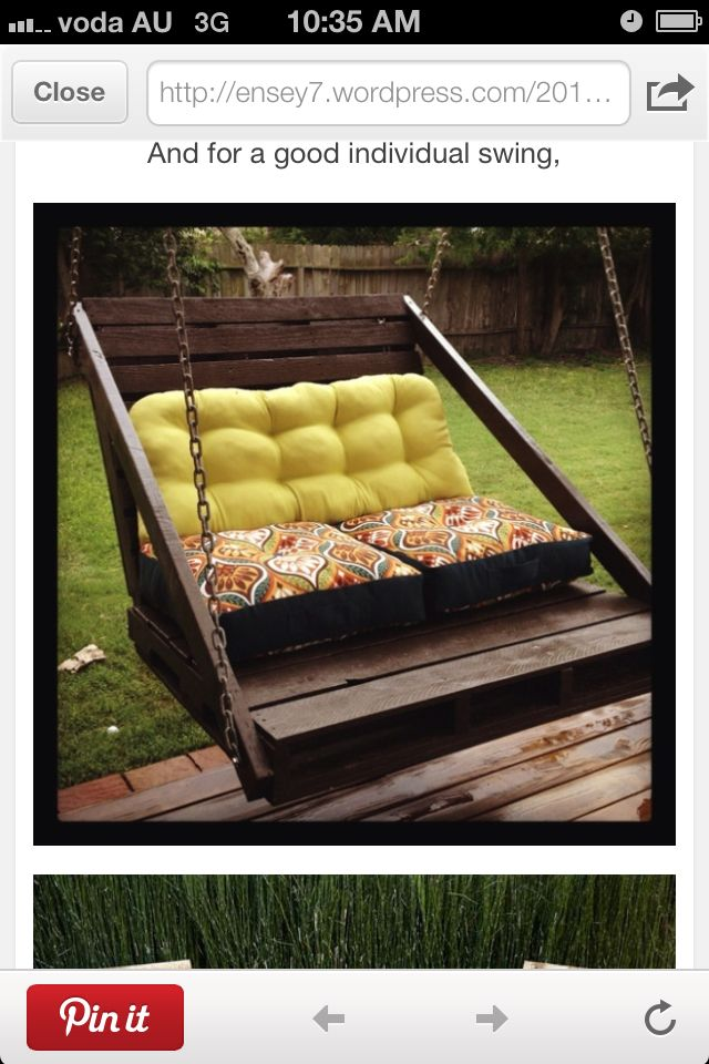 Porch swing made from pallet!