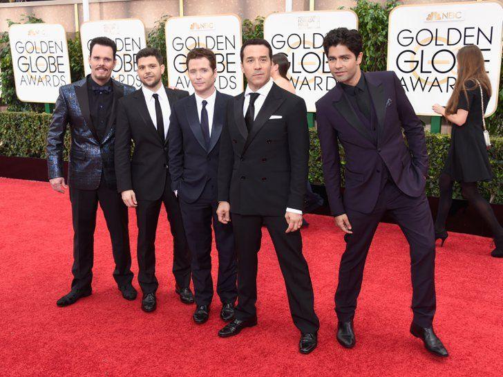 Pin for Later: Golden Globes 2015: Tous les Looks de la Soirée Kevin Dillon, Adrian Grenier, Kevin Connolly, Jeremy Piven, et Jerry Ferrara