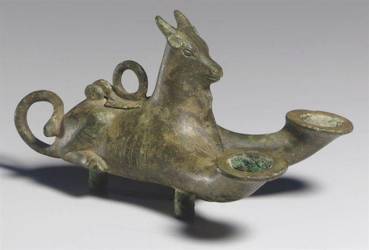 A ROMAN BRONZE OIL LAMP SYRIA, CIRCA 1ST CENTURY B.C.-1ST CENTURY A.D. | Christie's