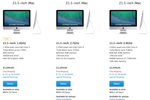 Apple Announces Cheaper iMac starting at $1099