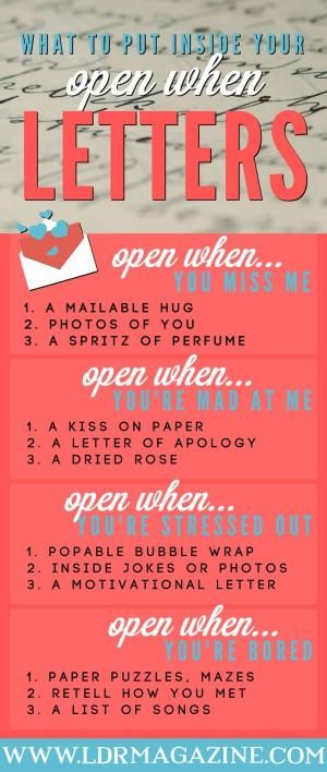 Open when letters by leila                                                                                                                                                                                 More
