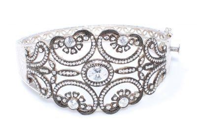 925 ayar gümüş,elmaslı benzeri zirkon taşlı bilezik