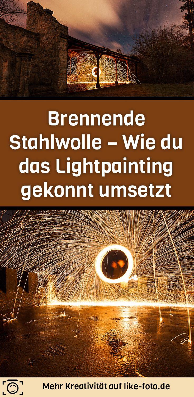 Brennende Stahlwolle – Wie du das Lightpainting gekonnt umsetzt. In diesem Artikel erfährst du, wie dubrennende Stahlwolle verwendest, umein beeindruckendes Lightpainting zu erschaffen, ohne dir dabei die Finger zu verbrennen! Hol dir Anleitung im Artikel!