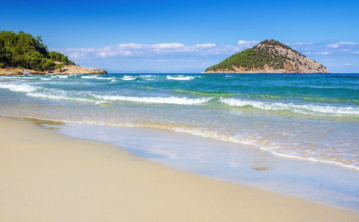 Paradise beach in Thassos, Greece