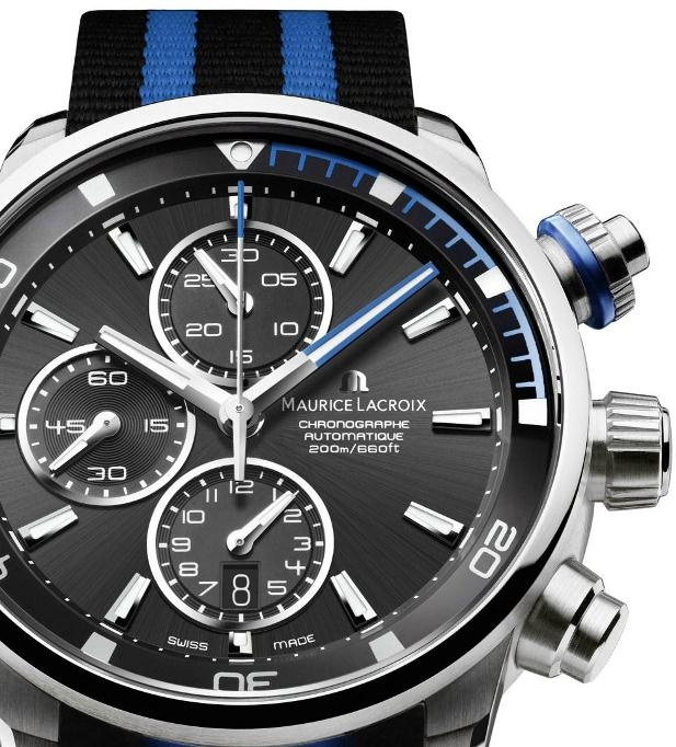 Diving watch. Love the blue...  Maurice Lacroix Pontos S Diving Chronograph