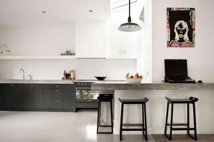 91 beste afbeeldingen over woonkeuken op pinterest ramen zwarte kozijnen en keuken modern - Woonkeuken american ...