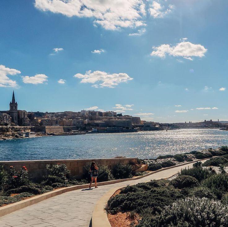 Inget fel på utsikten under promenaden  #malta