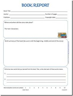 printable book report and reading log from homeschool creations