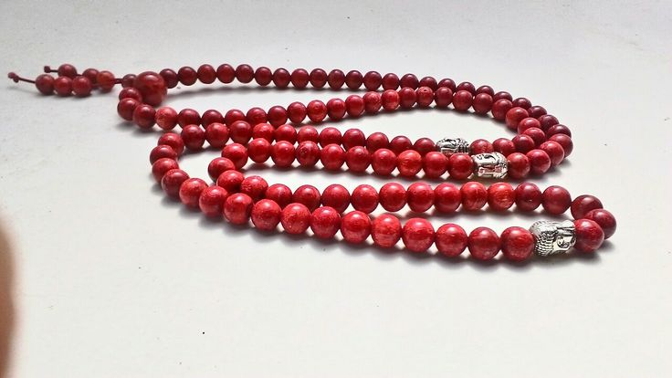 Red coral 108 beads