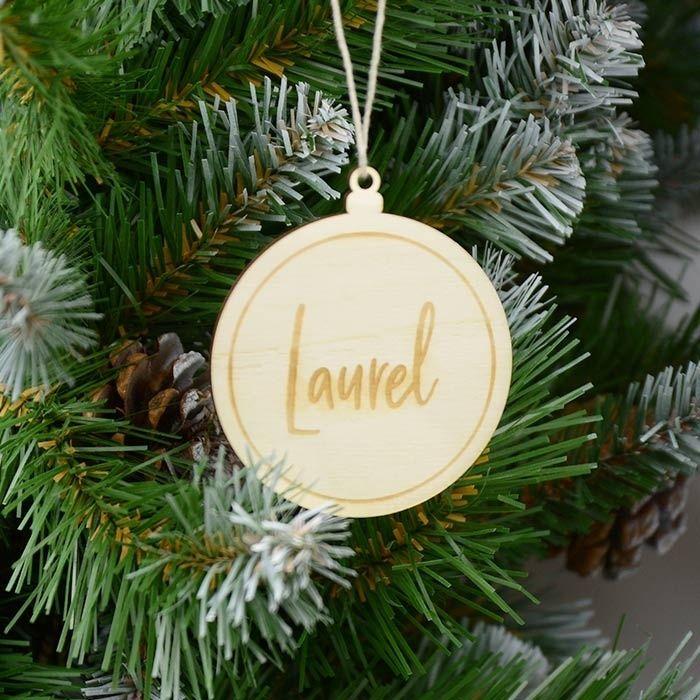 Gepersonaliseerde Kerstbal Met Naam Gegraveerd Kerst Ornament Decoratie Kerstballen