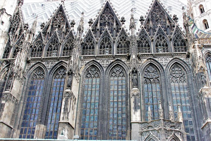 Breathtaking Gothic architecture of St Steven's cathedral, Vienna.