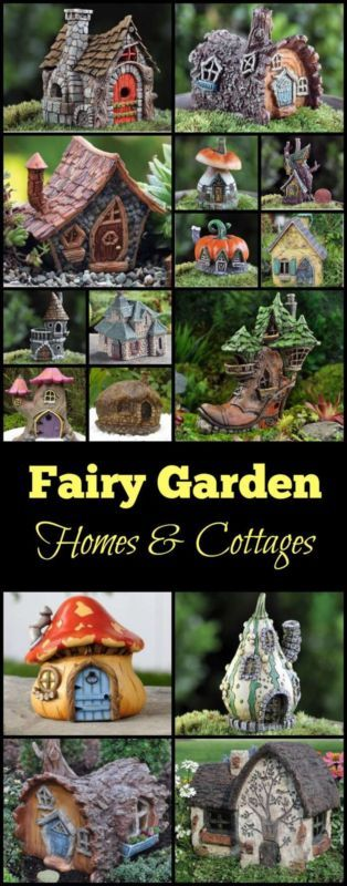 Absolutely beautiful Fairy Garden Homes & Cottages