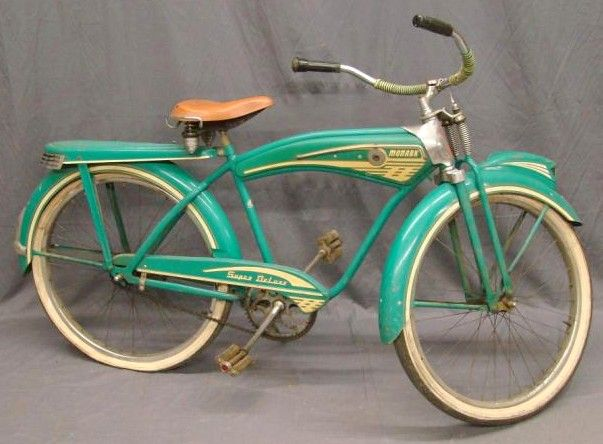 Monark Super Deluxe  Bicycle (circa 1940′s)...it's just good!!  wish I had one