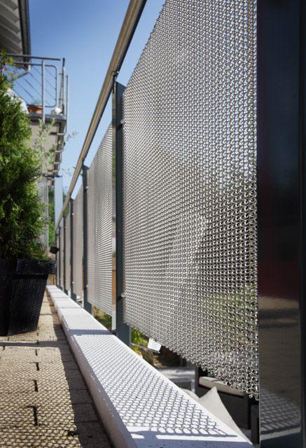 WIREHOUSE Mallas arquitectónicas de acero inoxidable. Excelente opción para patios y áreas comunes, cortinas arquitectónicas en fachadas, opción a barandales en escaleras y parasoles.