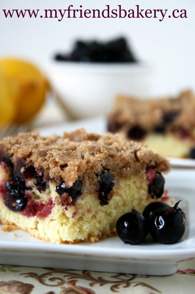 I Have Some Cousins Lemon Saskatoon Berry Crumble Coffee Cake | My Friend's Bakery