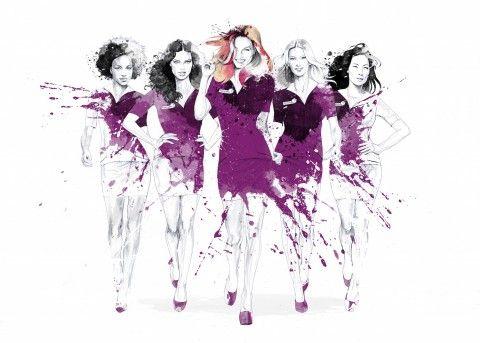Illustration - David Despau - The Mushroom Company - women, purple