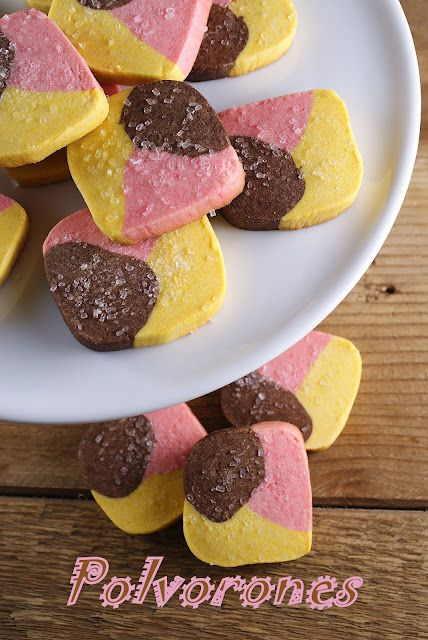 Polvorones (Three Color Mexican Cookies)  @Patty Markison Price / Patty's Food