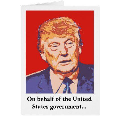 America Donald Trump Funny Birthday Card - birthday cards invitations party diy personalize customize celebration