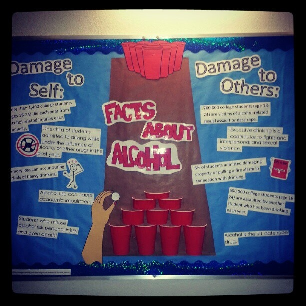 """Facts About Alcohol"" Bulletin board #residentassistant"