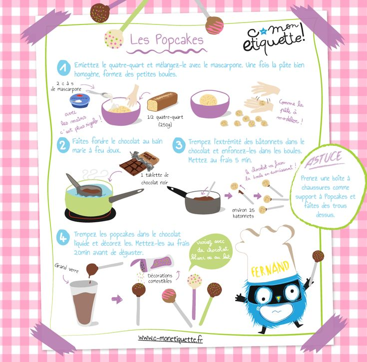 57 best nos recettes images on pinterest illustrated recipe cooker recipes and kid recipes - Recette pop cake ...