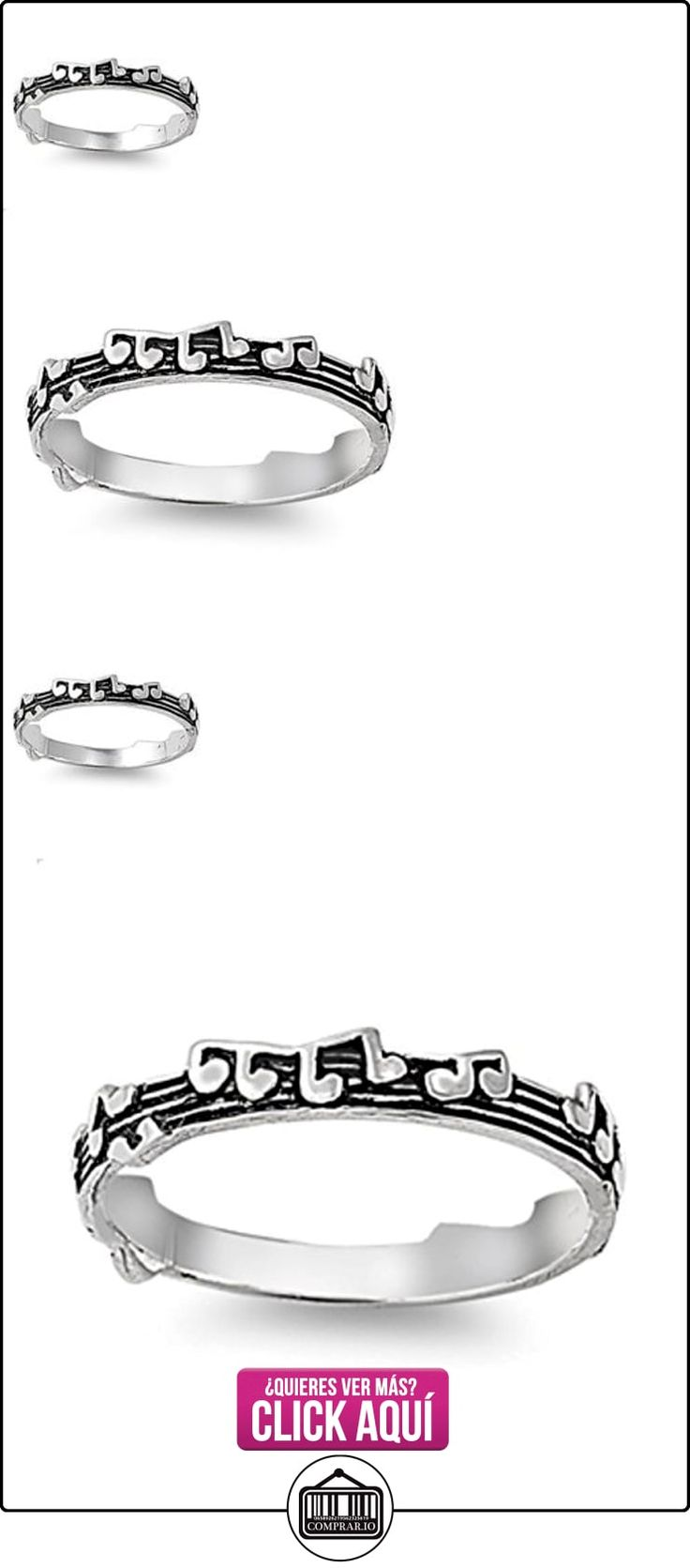 Notas plata esterlina anillo de Música - Tamaño, 19 (18,79 mm)  ✿ Joyas para mujer - Las mejores ofertas ✿ ▬► Ver oferta: https://comprar.io/goto/B00DMMILX6