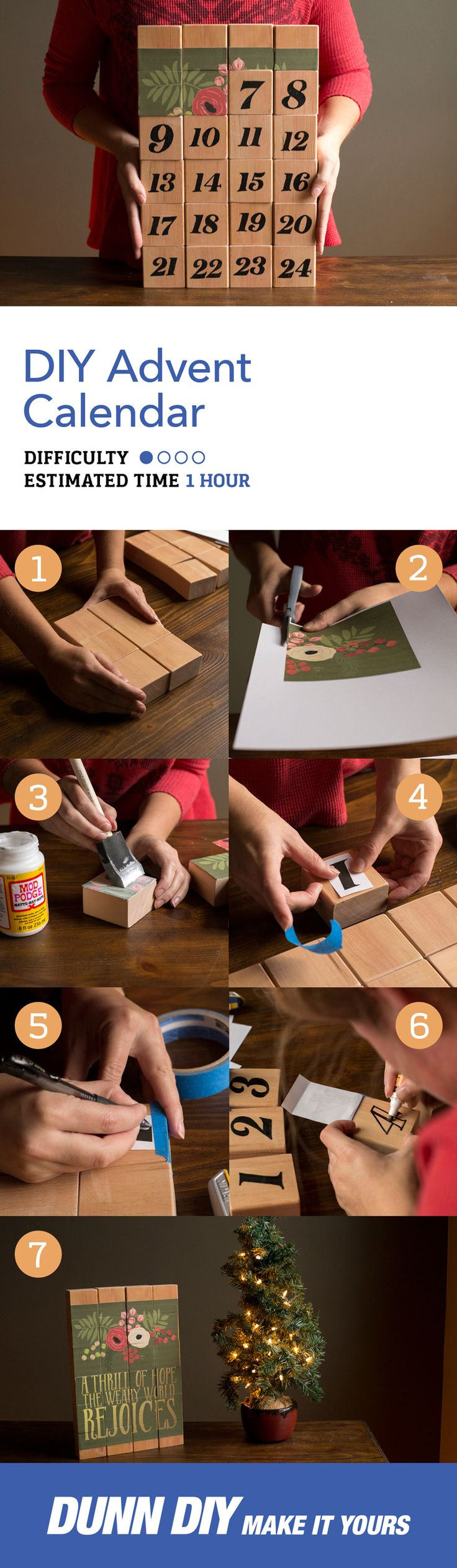 Christmas is almost here and there's nothing like counting down the days - no matter how old you are. This is a simple, fun, DIY advent calendar that you can easily put together and enjoy throughout December.