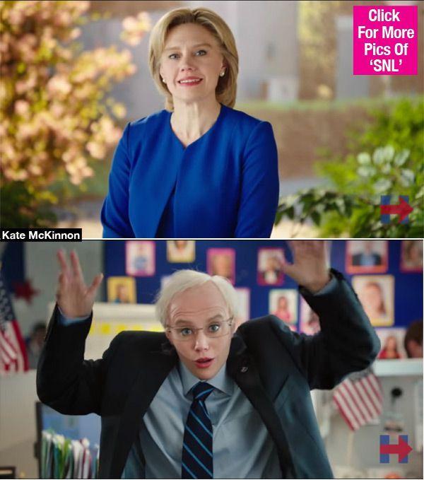 Kate McKinnon Morphs Hillary Clinton Into Bernie Sanders