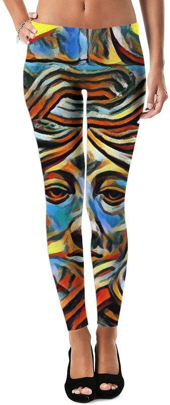 Rasta Dubstep King Custom Fable Rave Revolution Reggae Style Street Leggings by Willy Badu.