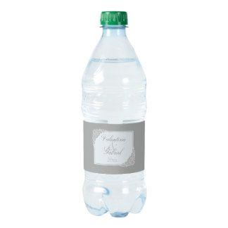 Grey Elegance, Victorian Water Bottle Label