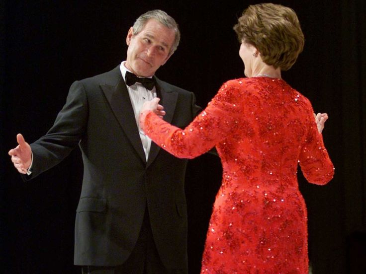 His first dance with Laura at the Inaugural Balls. George Bush FamilyGw ...
