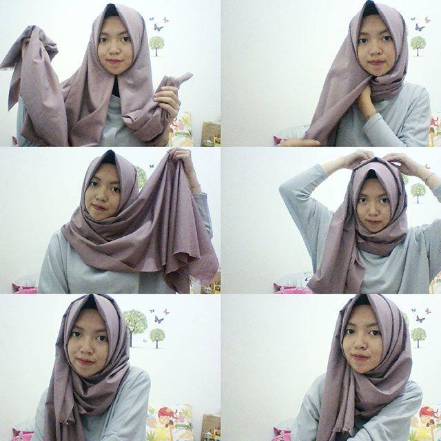 Tutorial Hijab Pashmina Katun Ima Modis