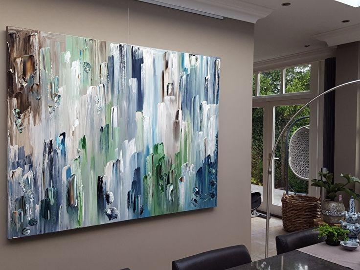 60 beste afbeeldingen van xxl schilderijen taupe xxl paintings taupe - Bruin taupe schilderij ...