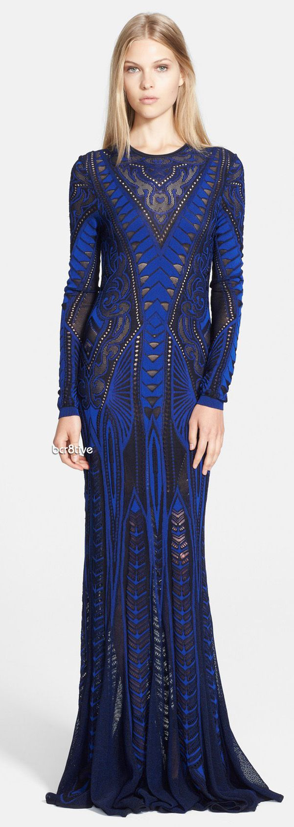 2016 Brit Awards T. Roberto Cavalli Long Sleeve Gown