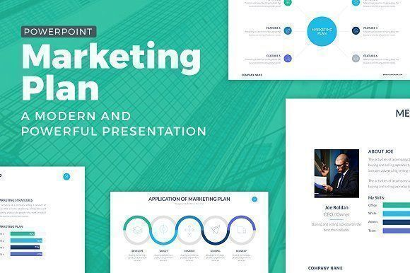 Marketing Plan Powerpoint Template Logos Vintage Marketing Roldan