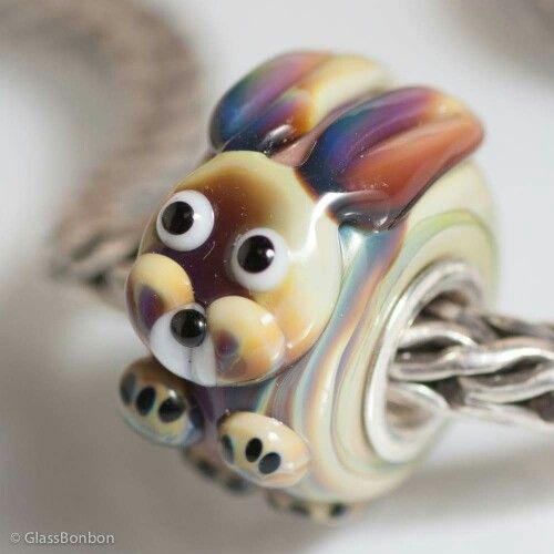 Bead in vetro artigianale di Glass Bonbon compatibile con pandora, trollbeads, tedora, ohm beads ecc ecc