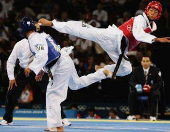 Ah... Taekwondo, gotta love flying kicks :)