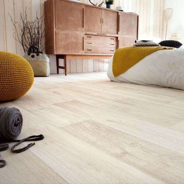 PVC Boden Tarkett Exclusive 300 Admiral Beige 4m Bodenbeläge PVC Belag Holz - Dekor