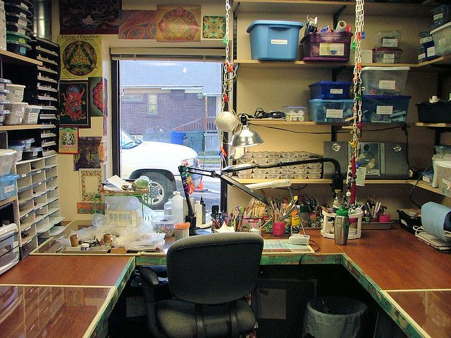 Small Space Studio For Crafts And Polymer Clay Artists Studio Spaces And Tricks Pinterest