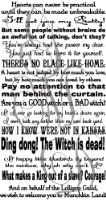 Wizard of Oz Quotes Assorted Sayings LARGE Vinyl Wall Decal [Black] or Stairs Decal Dorothy Toto Wicked Witch Inspiring Home Décor Welcome Housewarming Wedding Anniversary Birthday Gift