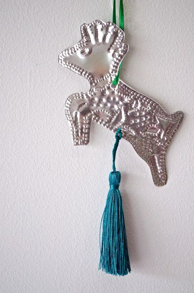 REINDEER CHRISTMAS DECORATION-EMERALD GREEN