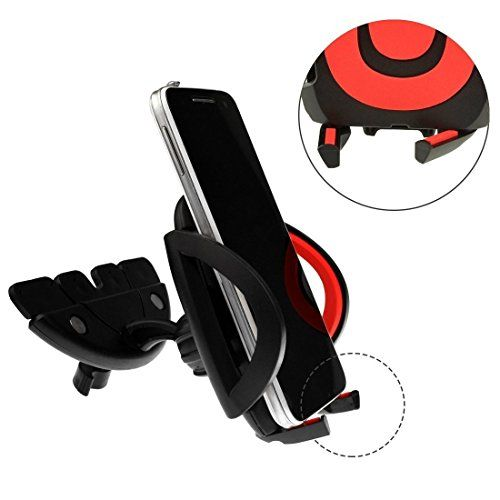 #Yookat CD Slot Smartphone Car #Mount Holder Cradle is ergonomically designed for you to install easily and quickly. Its 360°rotation feature help you to rotate y...