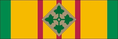 Vietnam Service Ribbon 4th Infantry Division Decal $6.40