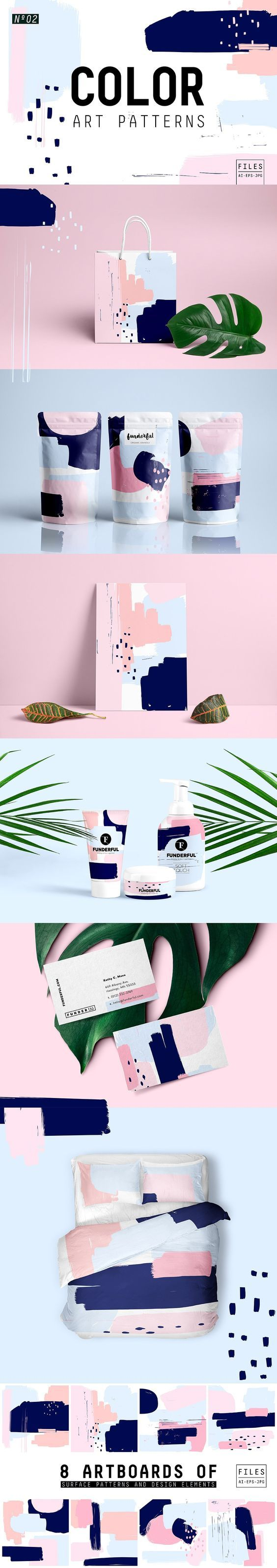 Beautiful brush pattern to use on any packaging design: