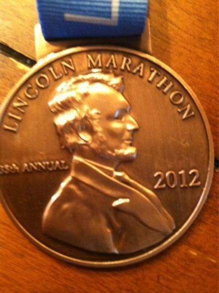35th Lincoln National Guard Marathon (Nebraska) Medal - 2010, 2011, 2012, 2013