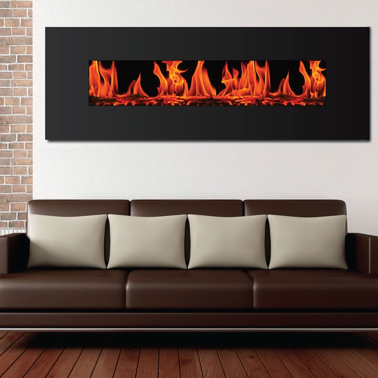 Frigidaire Valencia Wide Screen Electric Wall Hanging Fireplace   Beyond  The Rack