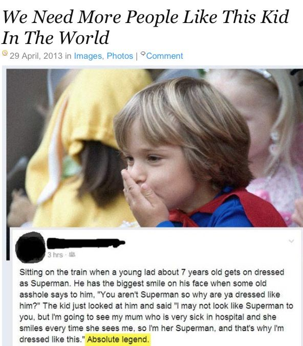 (This heartwarming story should have been shared without the curse word...) - Aww what a little trooper!
